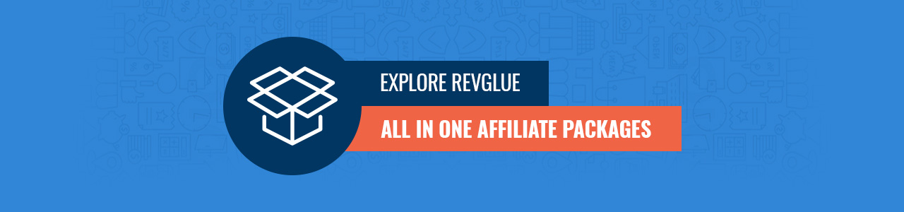 Explore RevGlue All In One Affiliate Packages Infographic.