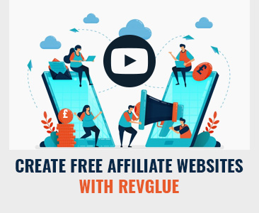 Create free affiliate websites with RevGlue