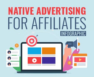 Native Advertising For Affiliates Infographic.