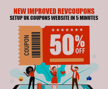 Create UK coupons and daily deals website in 5 minutes.