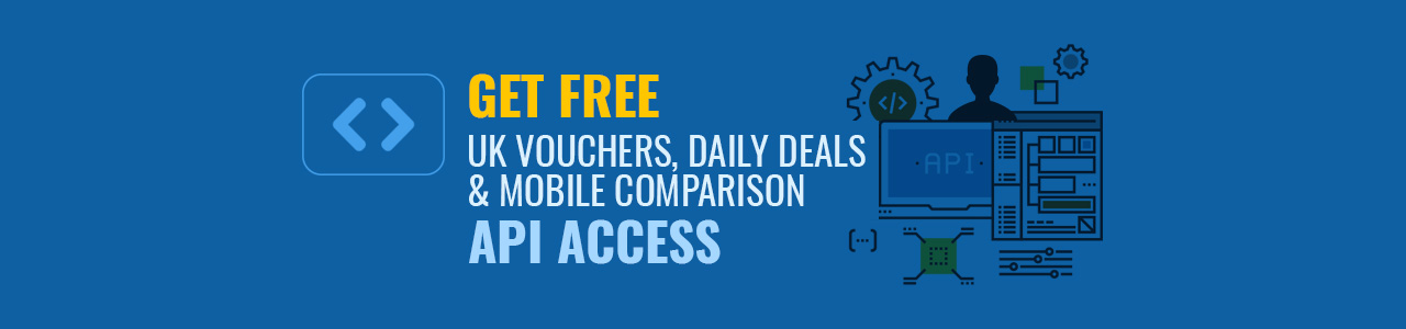 Get Free UK vouchers, daily deals and mobile comparison API Access with RevEmbed