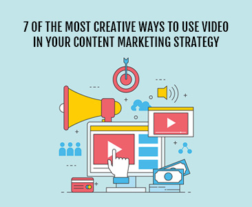 7 of the most creative ways to use video in your content marketing strategy.