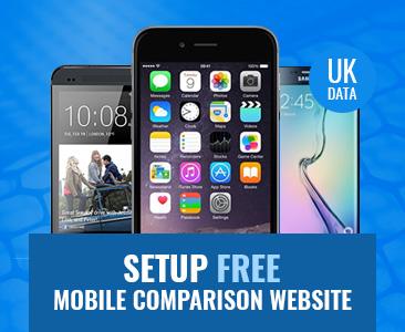 Setup Free UK Mobile Comparison Website