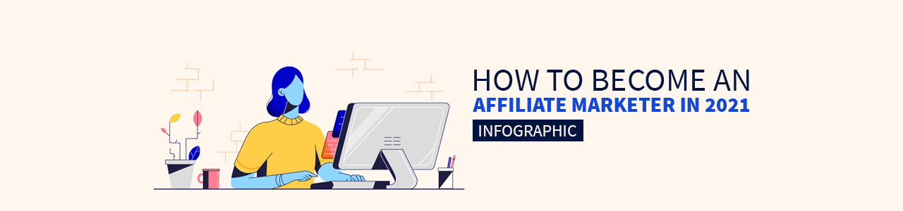 How to become an affiliate marketer in 2021 Infographic.