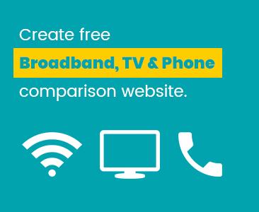 Create Free Broadband, TV & Phone comparison website with RevEmbed