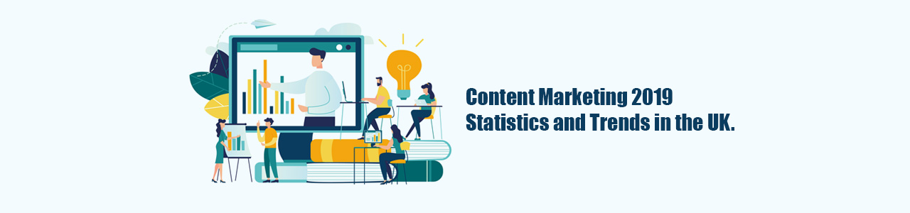 Content Marketing 2019 statistics and trends in the UK Infographic.