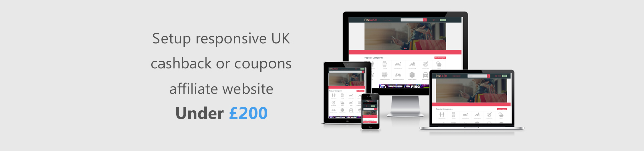 How to setup a responsive UK cashback or coupons website quickly and cheaply